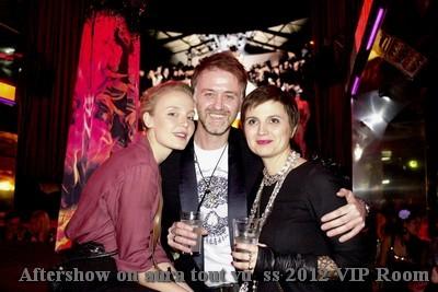 Aftershow Couture été 2012 on aura tout vu   VIP Room Giovana Grassini son cheri et Livia Stoianova, haute couture été 2012, Livia Stoianova, VIP ROOM