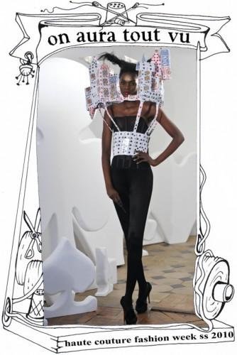 semaine de la mode paris 2010, château de carte