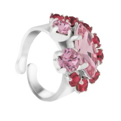 association Joséphine, Moulin Rouge® by on aura tout vu, cristaux Swarovski®,Indian Pink, Light Rose, Art Déco, Moulin Rouge, Moulin Rouge, Lucia Iraci, collection exclusive, Collier, livia stoianova ,yassen samouilov,on aura tout vu bagues,bracelet,